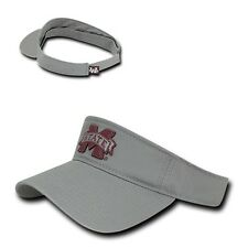 Gray Mississippi Miss State Bulldogs NCAA Cotton Polo Sun Golf Visor Cap Hat