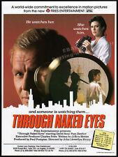 THROUGH NAKED EYES__Original 1984 Trade AD promo / poster__DAVID SOUL_PAM DAWBER