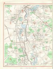 1964  VINTAGE STREET MAP - HAREFIELD, MAPLE CROSS, WEST HYDE,