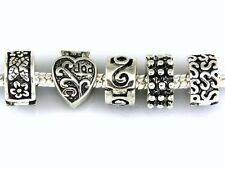 20pcs Antique Silver Tone Mix Clip Lock Stopper Beads Fit Charm Bracelet K03