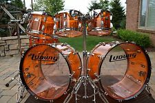 Ludwig Amber Vistalite Double Bass Drumset NEW 24,24,10,12,13,16,18
