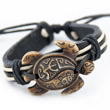 cool Tribal style Surfing turtles leather bracelet S-9