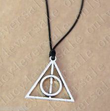 Harry potter deathly hallow adjustable length Vintage Tibetan Silver Necklace