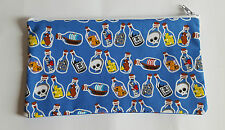 Pirate Message in a Bottle Fabric Handmade Pencil Case Storage Pouch