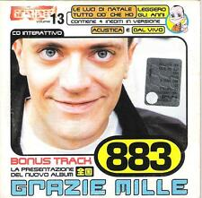 "883 MAX PEZZALI - CDs PROMO TRIBE "" GRAZIE MILLE "" TRACCIA ROM + VIDEO + AUDIO"