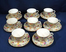 Vintage Lord Nelson Ware Chintz China ROSE TIME 8 Cup and + Saucer Sets