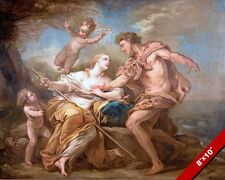 BACCHUS DIONYSUS & ARIANE PAINTING GREEK MYTHOLOGY HISTORY ART REAL CANVAS PRINT