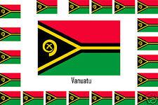 Assortiment lot de 10 autocollants Vinyle stickers drapeau Vanuatu