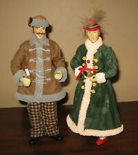 1987/1988 CLOTHIQUE POSSIBLE DREAMS LTD Man Lady Carolers  Figure 10 3/4""
