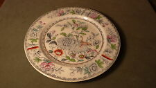 VINTAGE ENGLISH ASHWORTH BROS PORCELAIN PLATE - HANLEY- ORIENTAL FLORAL & BIRD