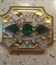 McClelland Barclay Art Deco Emerald Color Brooch