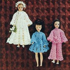 "VINTAGE CROCHET PATTERN TO MAKE SINDY BARBIE SHEENA DOLLS CLOTHES 12"" & 18"""