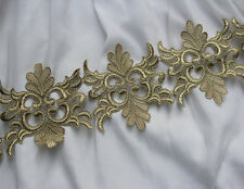 """4.53""""*1Y  Metallic Gold  Lace Trim with Beautiful Design,Vintage Style"""