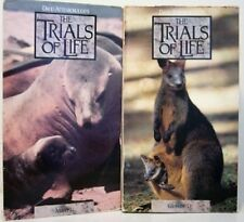 Lot 2 Attenborough Trials of Life Animals BBC VHS Teach ++++