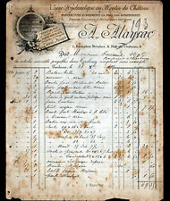 """TOULOUSE (31) USINE au MOULIN DU CHATEAU / ORNEMENTS en BOIS """"A. ALAYRAC"""" 1894"""