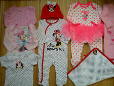**AMAZING**NEW BUNDLE OUTFITS  MINNIE BABY GIRL CLOTHES 3/6 MTHS(2.3)NRC27