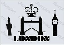 A4 Stencil London icons, Furniture, Fabric, Glass, *Special Offer* (2)