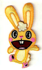 "1.75 X3.5""  CUDDLES rabbit Happy Tree Friends EMBROIDERED IRON ON / SEW ON PATCH"