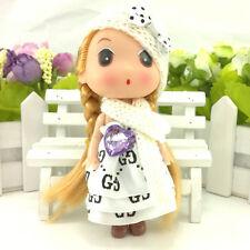 White Letters Little Korean Ddung Doll Cell Phone Keychain Bag Strap Girl Gift