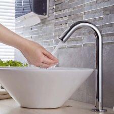 Chrom Sensor Wasserhahn vollautomatisch Armatur Mischbatterie Waschbecken DHL