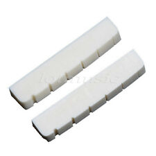 2pcs Electric Guitar Bone Nuts 6 string Slotted 43mm *6mm *8.5mm