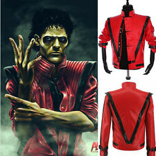 MJ MICHAEL JACKSON RED THRILLER MEN WOMEN KIDS JACKET HALLOWEEN PARTY BIRTHDAY