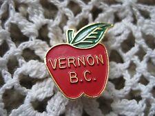 Vernon B.C. Canada Apple Pin Souvenir BJ Sales Calgary  .75 inches