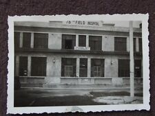 WW2 ENTRANCE TO U.S. ARMY 78th FIELD HOSPITAL, GERMANY  VTG 1940's PHOTO