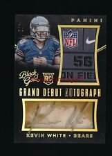 KEVIN WHITE 2015 PANINI BLACK & GOLD GRAND DEBUT LAUNDRY TAG PATCH AUTO RC # 4/5
