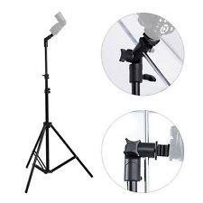 Studio Photography Tripod Light Stand Kit + E-Shape Swivel Softbox Flash Holder