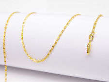 1PCS 16inch Jewelry 18K Yellow Gold Filled Chain Flat S GF Necklaces For Pendant