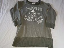 Vintage Disney Famous Leader 1928 Mickey Mouse Women's Gray Sweater Size Small