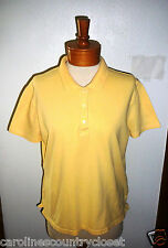 CHEROKEE SHIRT~Polo Style~Yellow~Short Sleeve~Miss Size Large~FREE SHIP