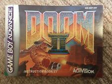 Doom II (2) - Game Boy Advance GBA Instruction Manual Only