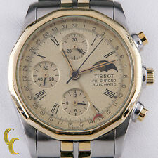 Tissot Two Tone PR 100 Automatic Chronograph Moonphase Watch Valjoux 7750 C451