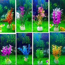 10pcs Mixed Artificial Aquarium Fish Tank Water Plastic Plant Decor Ornament Pet