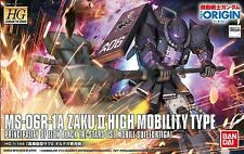 Gundam the Origin 1/144 HG #005 Black Tri-Stars Zaku II Ortega Custom Model Kit