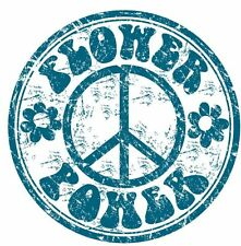 Flower Power Peace Sticker Decal Graphic Vinyl Label V1