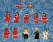Lego Racers Ferrari and Shell Lot of 10 Individual Minifigures with Extras