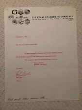 Las Vegas Chamber Of Commerce Letter Bomb Testing In Logo Ken O'Connell 1966