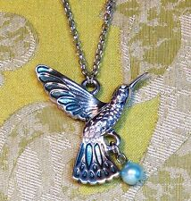 2 x Hummingbird necklace (YOU WILL GET 2 NECKLACES). Chain, Mixed Metals.