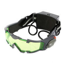 Green Lens Adjustable Elastic Band Night Vision Goggles Glasses eyeshield CA