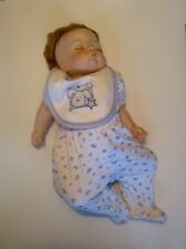 "SLEEPING "" SUGAR BRITCHES ""  REPRODUCTION PORCELAIN NEWBORN DOLL"