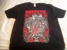BABYMETAL California Metal Fox 2016 Black T-Shirt Size L 100% Cotton
