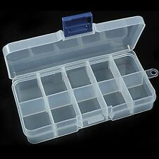 New Empty Storage Container Box Case for Nail Art Tips Rhinestone Gems HF