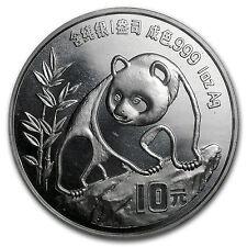 1990 China 1 oz Silver Panda Small Date BU (Sealed) - SKU #10168