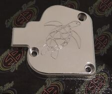 YAMAHA BANSHEE 350 ATV SEA TURTLE ART POLISHED BILLET ALUMINUM THROTTLE COVER