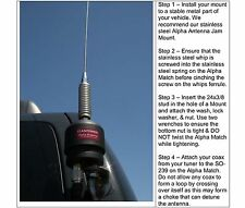 6-40 Meter HF Alpha MOTO-B (black) Mobile Antenna