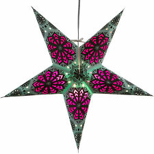 Snowflake Paper Star Light Lamp Lantern with 12 Foot Cord Included