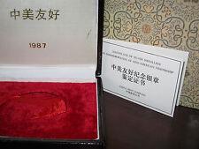 CHINA - 1987 - SINO-AMERICAN - ATLANTA  - 5OZ. AG - ORIGINAL BOX & COA - NO COIN